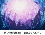 3d rendering. diamonds or gems... | Shutterstock . vector #1069972742