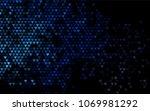 dark blue vector abstract small ... | Shutterstock .eps vector #1069981292