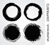 grunge round banners frames... | Shutterstock .eps vector #1069983872