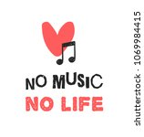 hand drawn quote about music.... | Shutterstock .eps vector #1069984415
