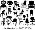 vector chair set   Shutterstock .eps vector #106998566