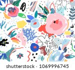 creative universal artistic... | Shutterstock .eps vector #1069996745