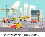 construction vector flat...   Shutterstock .eps vector #1069998422