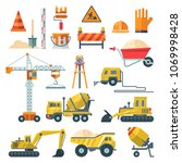 construction vector flat... | Shutterstock .eps vector #1069998428