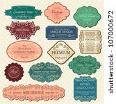 set of vintage frames | Shutterstock .eps vector #107000672