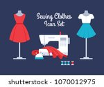 sewing women's clothes vector... | Shutterstock .eps vector #1070012975