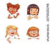 cartoon collection of little... | Shutterstock .eps vector #1070020298