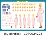 pretty female office employee... | Shutterstock .eps vector #1070024225