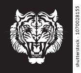roaring tiger's head logo...   Shutterstock .eps vector #1070028155