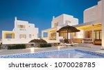 white arabian house. rest by... | Shutterstock . vector #1070028785