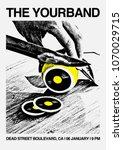 gig poster flyer template | Shutterstock .eps vector #1070029715