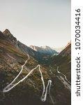 trollstigen road in norway... | Shutterstock . vector #1070034416