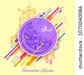 illustration of ramadan kareem  ... | Shutterstock .eps vector #1070040086
