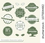 vector set  vintage renewable... | Shutterstock .eps vector #107004482