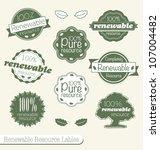 vector set  vintage renewable... | Shutterstock .eps vector #107004482