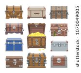 chest vector treasure box with... | Shutterstock .eps vector #1070049005