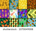 pineapple seamless pattern... | Shutterstock .eps vector #1070049008