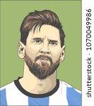 lionel messi  an argentine... | Shutterstock .eps vector #1070049986