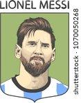 lionel messi  an argentine... | Shutterstock .eps vector #1070050268
