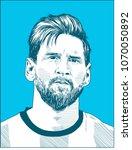 lionel messi  an argentine... | Shutterstock .eps vector #1070050892