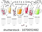 hand drawn summer fruit... | Shutterstock .eps vector #1070052482