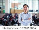 young asian man in business...   Shutterstock . vector #1070055086