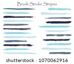 artistic blue ink brush stroke... | Shutterstock .eps vector #1070062916