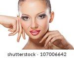 portrait of beautiful sexy... | Shutterstock . vector #107006642