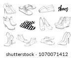 vector illustration of set hand ... | Shutterstock .eps vector #1070071412