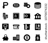 solid vector icon set   ruble... | Shutterstock .eps vector #1070074232