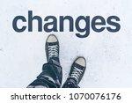 changes in life  conceptual...   Shutterstock . vector #1070076176