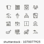 hotel service icon set and...