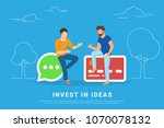 invest in ideas concept vector... | Shutterstock .eps vector #1070078132