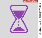 hourglass icon on grey...   Shutterstock .eps vector #1070078345