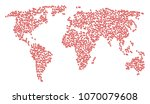 world pattern map done of rx... | Shutterstock .eps vector #1070079608