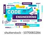 vector creative horizontal... | Shutterstock .eps vector #1070083286