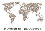 world mosaic map designed of... | Shutterstock .eps vector #1070084996