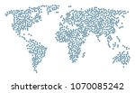 world composition map composed... | Shutterstock .eps vector #1070085242