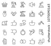 thin line icon set   basket... | Shutterstock .eps vector #1070090165