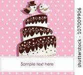 wedding card with birds | Shutterstock .eps vector #107009906