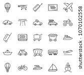 thin line icon set   train... | Shutterstock .eps vector #1070102558
