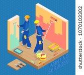 isometric interior repairs... | Shutterstock .eps vector #1070103302