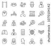 thin line icon set   business... | Shutterstock .eps vector #1070104142