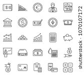 thin line icon set  ... | Shutterstock .eps vector #1070107172