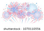 vector holiday firework.... | Shutterstock .eps vector #1070110556