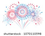 vector holiday firework....   Shutterstock .eps vector #1070110598