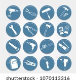 set of blue handyman... | Shutterstock .eps vector #1070113316