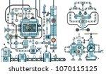 fantastic steampunk machine  ... | Shutterstock . vector #1070115125