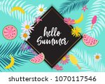 hello summer background. vector ... | Shutterstock .eps vector #1070117546
