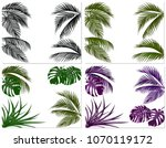 sets of colorful leaves of... | Shutterstock .eps vector #1070119172